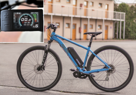 COMFORT KIT FOR ORDINARY CYCLING - Motor power: Standard 250W, Battery range and location: Frame, range up to 130 km (13Ah, 468Wh), Charging speed: Standard 2 A, Display type: Full color LCD 500c