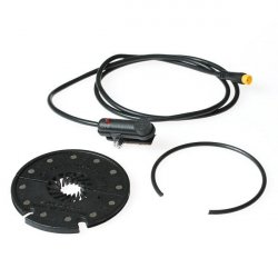 Divided pedal assistant for hub-drive motors.