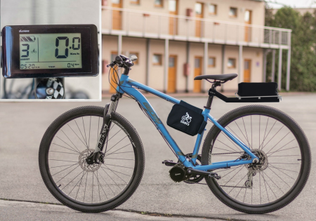 SET EXTREME FOR THE MOST DEMANDING RIDERS - Motor power: 1000W + gearsensor, Battery range and location: Bag, range up to 140 km (13Ah 624Wh), Charging speed: Faster 5 A, Display type: LCD C961