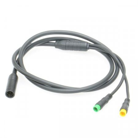 Main connection cable for mid-drive with 2 outputs