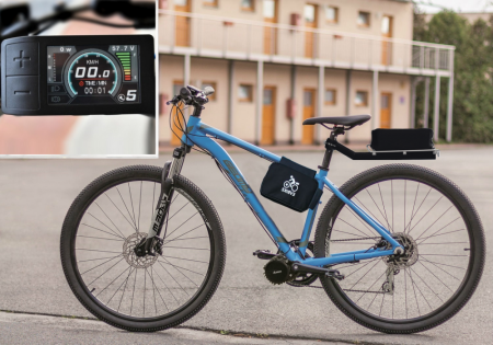 COMFORT KIT FOR ORDINARY CYCLING - Motor power: Standard 250W, Battery range and location: Bag, range up to 160 km (15,6Ah, 562Wh), Charging speed: Standard 2 A, Display type: Full color LCD 500c