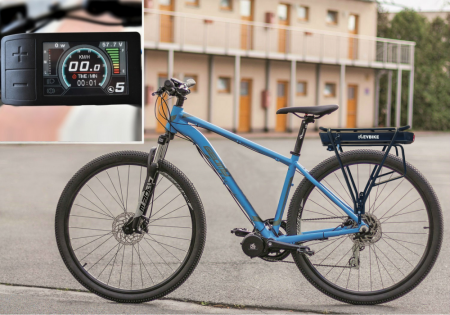 COMFORT KIT FOR ORDINARY CYCLING - Motor power: Standard 250W, Battery range and location: Rear carrier, range up to 160 km (15,6Ah, 562Wh), Charging speed: Faster 5 A, Display type: Full color LCD 500c